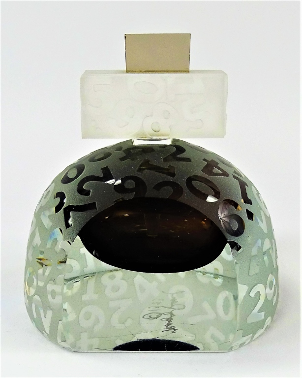 CONTEMPORARY ART GLASS PAPERWEIGHT PERFUME BOTTLE