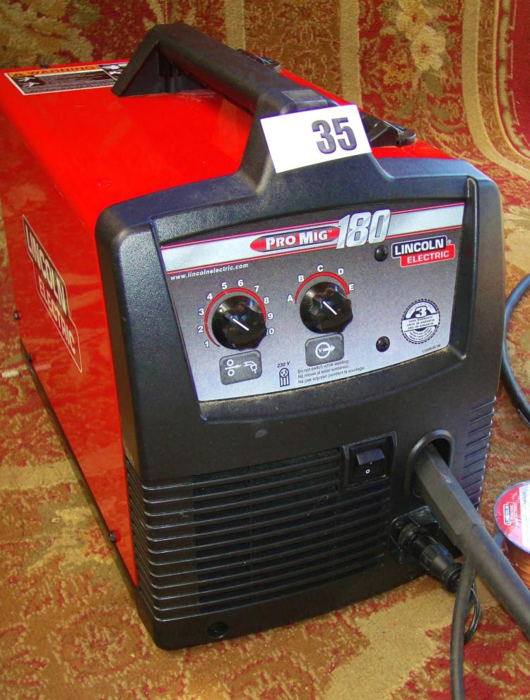 LINCOLN ELECTRIC MIG WELDER PRO-MIG 180 LIKE NEW