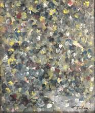 MARK TOBEY ABSTRACT OIL ON BOARD V$5,000