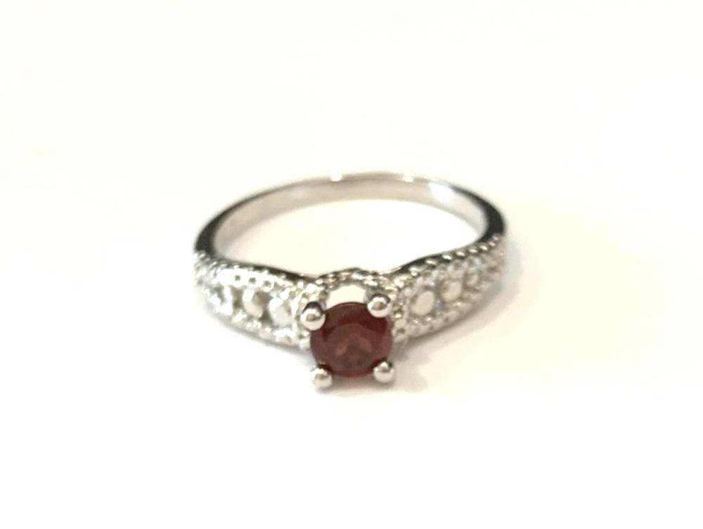 DAINTY .25CT ROUND GENUINE RUBY SOLITAIRE RING