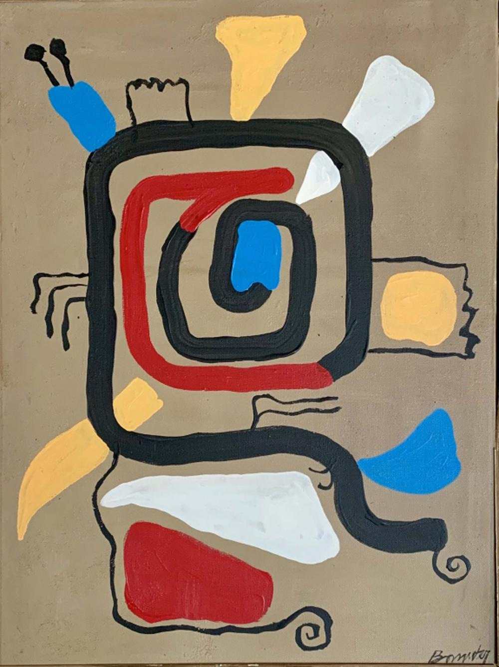 WILLI BAUMEISTER ABSTRACT ACRYLIC WORK V$3,400