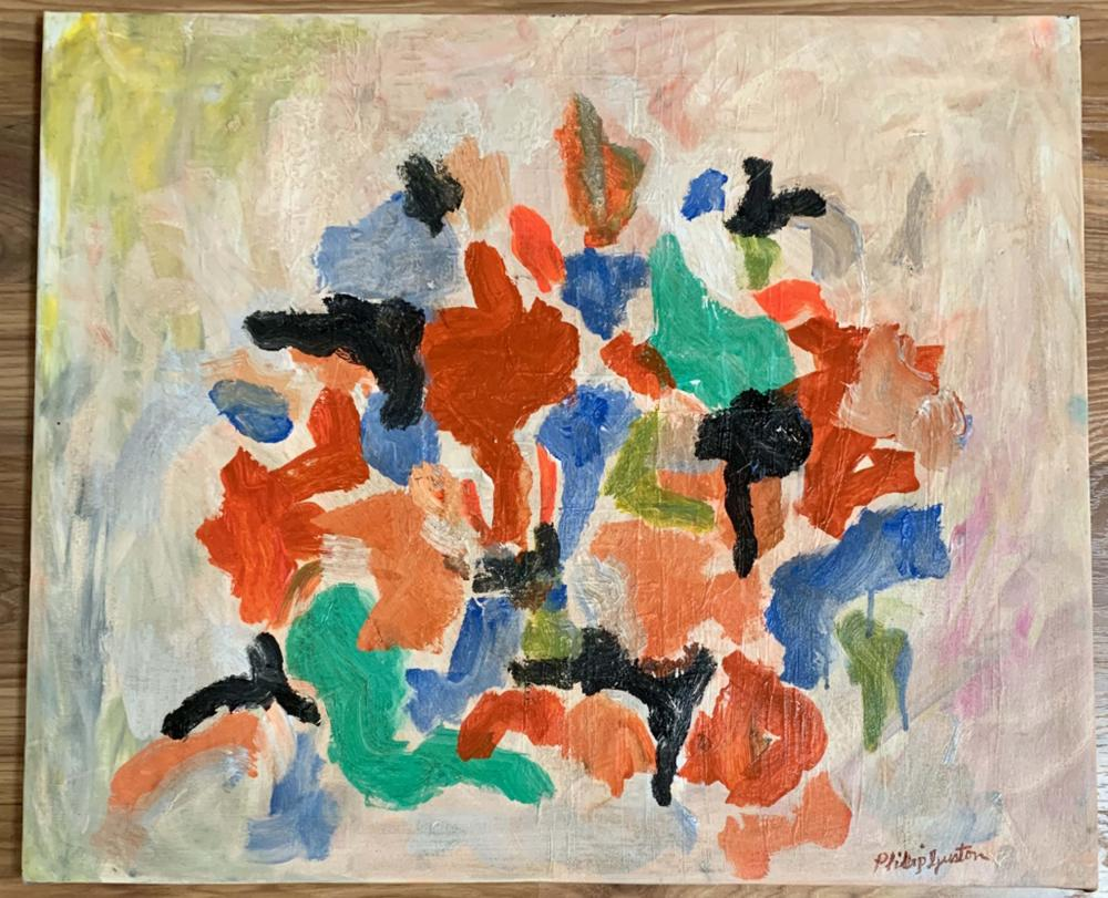 PHILIP GUSTON ABSTRACT OIL ON CANVAS V$8,000
