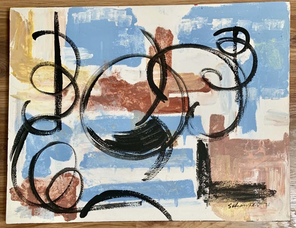 LOUIS SCHANKER ABSTRACT OIL ON CANVAS V$2,600