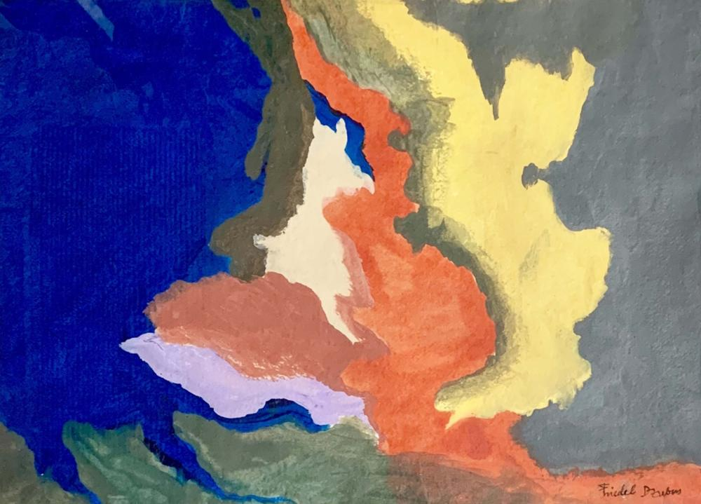 FRIEDEL DZUBAS ABSTRACT ACRYLIC ON PAPER V$7,000