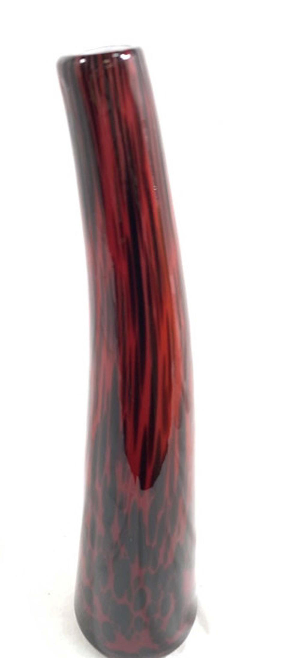 SUPERB RED/ONYX MODERNISTIC MURANO GLASS VASE