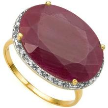 AMAZING 12CT GENUINE RUBY/DIAMOND 10K GOLD RING