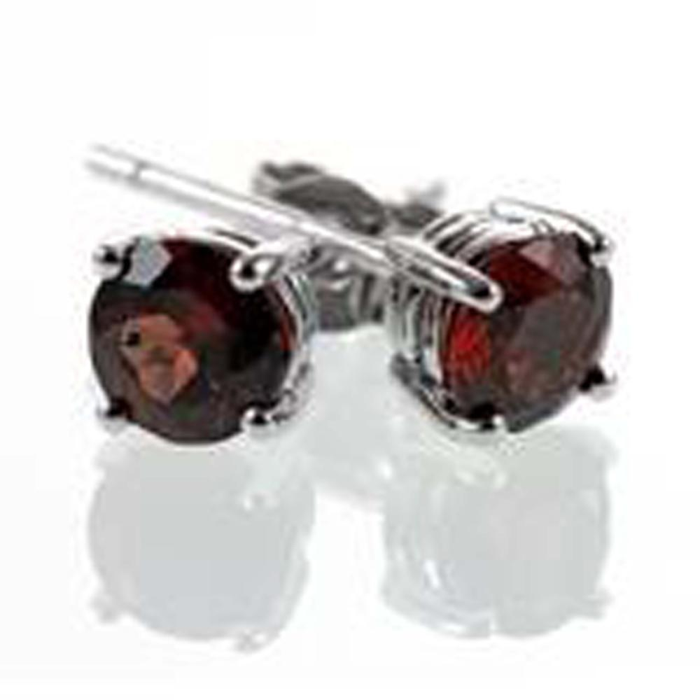CLASSIC ROUND .50CT INTENSE RED GARNET EARRINGS