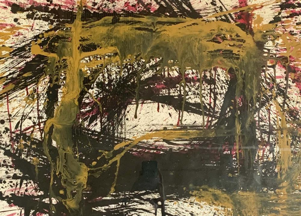 NORMAN BLUHM ABSTRACT MIXED MEDIA WORK V$26,000