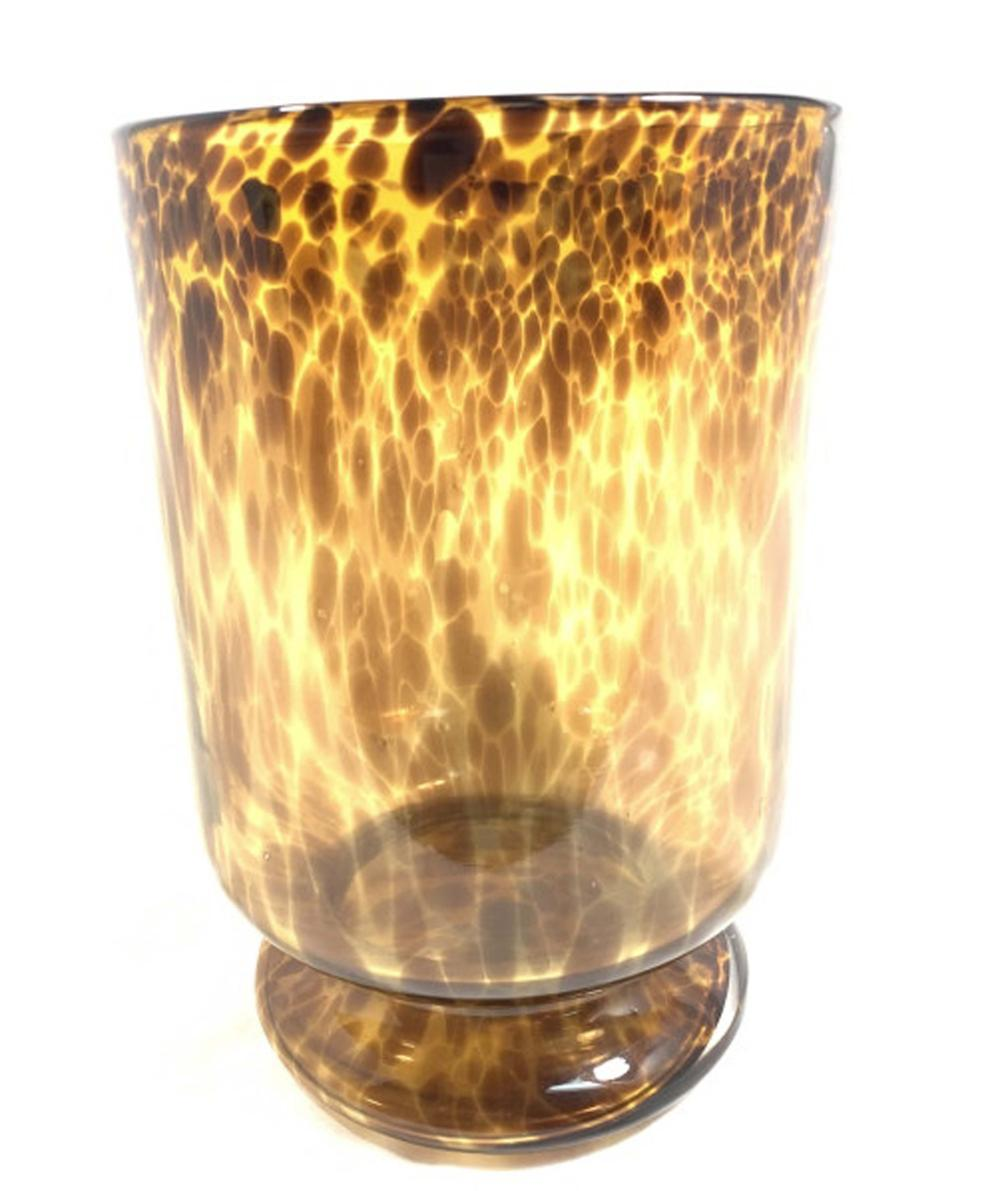 EXCELLENT MURANO GLASS CHEETAH SPOT WIDE MOUTH VASE