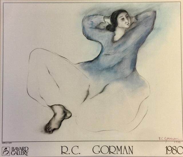 SIGNED R.C. GORMAN EXHIBITION ART POSTER