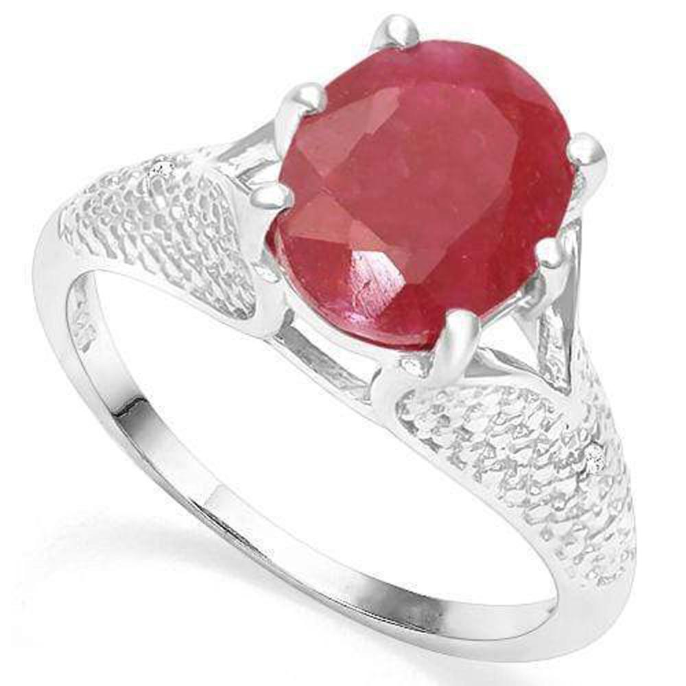 EXQUISITE 3CT RAISED SETTING RUBY SOLITAIRE RING