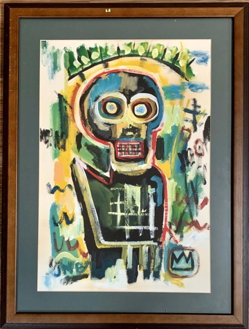 Lot 31: JEAN-MICHEL BASQUIAT FIGURATIVE ACRYLIC V$14,000