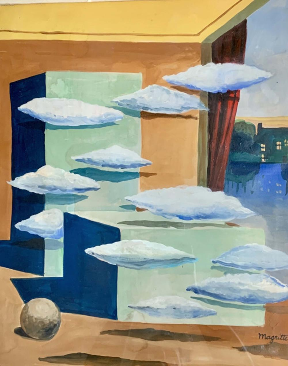 Lot 35: RENE MAGRITTE ACRYLIC ON CANVAS WORK V$2,500