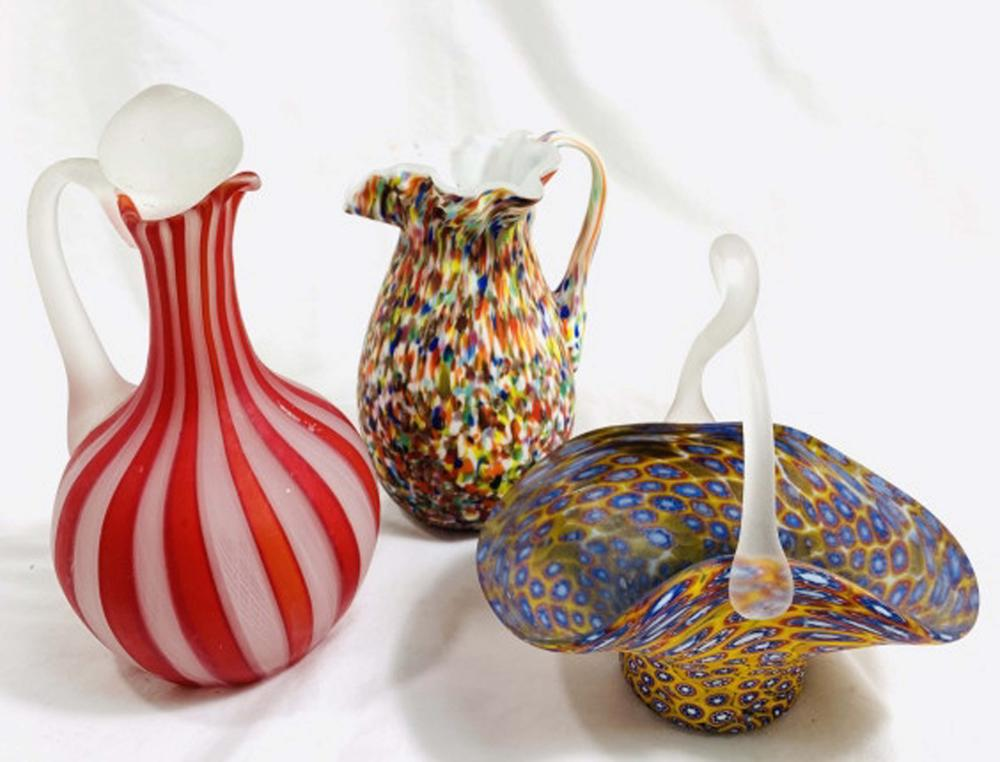 Lot 43: LOT OF 3 VINTAGE MURANO GLASS COLLECTIBLES