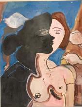 Lot 67: GEORGES BRAQUE ACRYLIC ON PAPER V$3,500