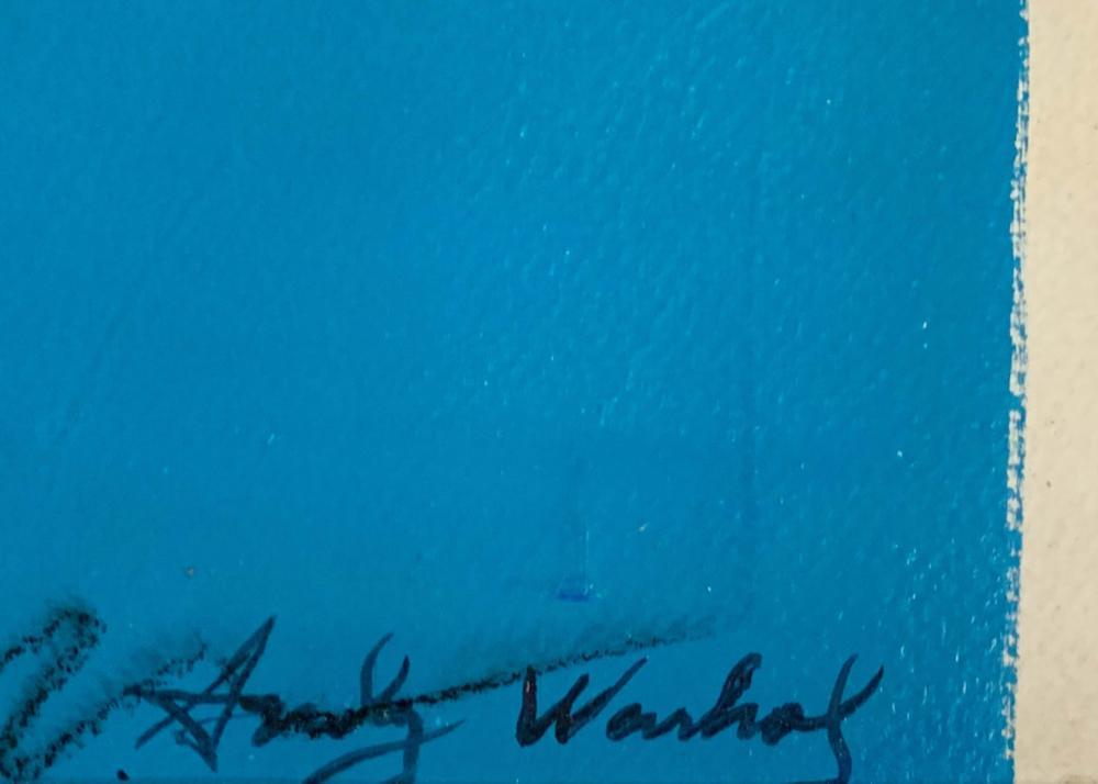 Lot 70: ANDY WARHOL ABSTRACT SERIGRAPH V$11,000