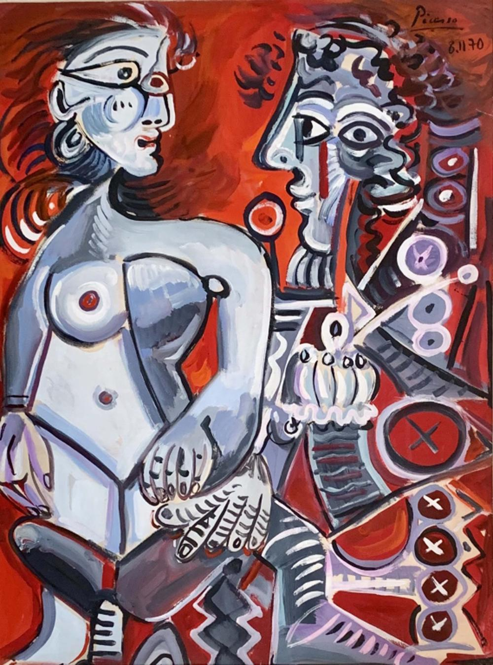 PABLO PICASSO ABSTRACT FIGURATIVE ACRYLIC V$8,500