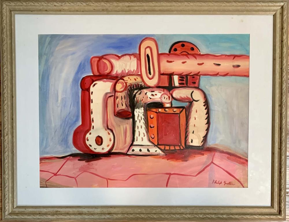 Lot 87: PHILIP GUSTON ABSTRACT OIL PAINTING V$4,500
