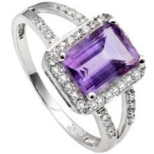 GORGEOUS 1CT BAGUETTE AMETHYST RING