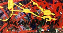 Lot 68: JACKSON POLLOCK ABSTRACT ACRYLIC WORK V$18,000