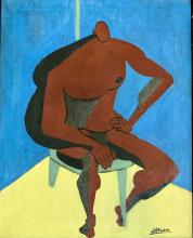 Lot 72: JOHN GRAHAM OIL ON CANVAS FIGURATIVE WORK V$12,000