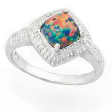 ALLURING FIRE OPAL RING IN STERLING