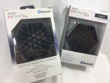 LOT OF 2 INFINITE LIGHT UP BLUETOOTH SPEAKERS