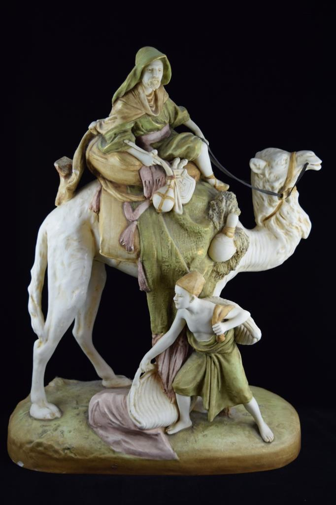 ROYAL DUX PORCELAIN OF ARAB BEDOUIN CAMEL & BOY