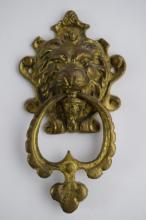 LION HEAD BRASS or BRONZE DOOR KNOCKER