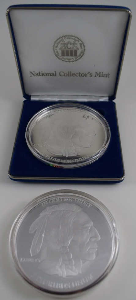 TWO GIANT .999 FINE SILVER BUFFALO ROUND PROOFS