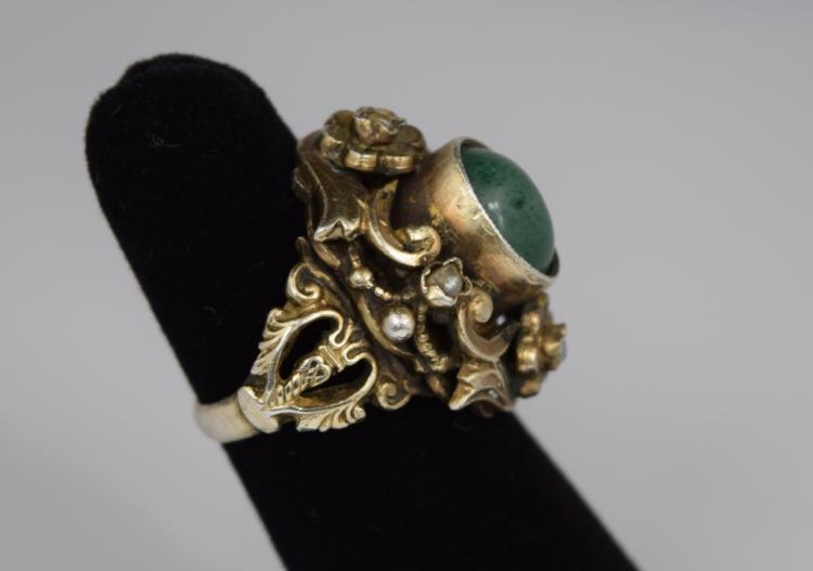 sterling hungarian baroness jade ring