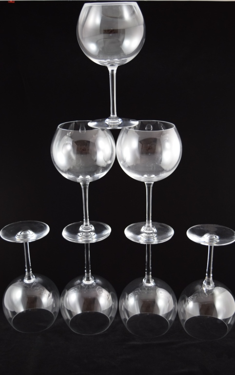 RARE 7 PIECE BACCARAT CRYSTAL WINE GLASS SET