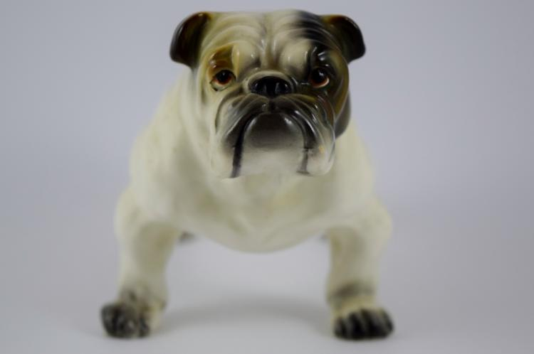 english bulldog figurine english bulldog porcelain figurine 8142