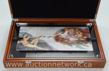 'Giants of Art' NIUE - 2013 'Michelangelo Buonarroti' - Giant Art Coin The Creation of Adam - (1508-1512) 'Giant Art Proof Silver Set' 'The Creation of Adam' Image can be seen on the ceiling of the Sistine Chapel in Vatican City, Italy - See Photos.
