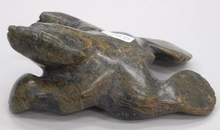 Inuit Soapstone Sculpture by Artist: Ottokie Samayualie.