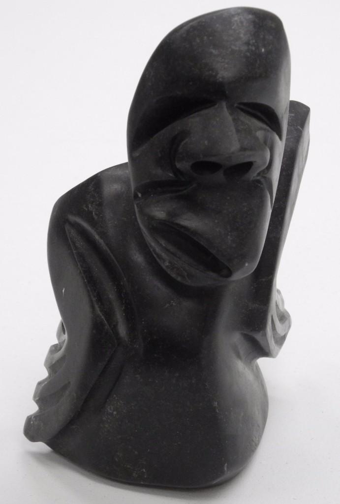 Inuit Soapstone Sculpture by Artist: Simon Uttaq.
