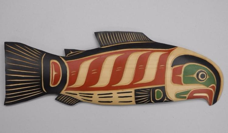Troy Baker - Original - West Coast Haida Indian Art Carved Cedar - $575.00 Gallery. Signed - Estimate: $300-$400.00