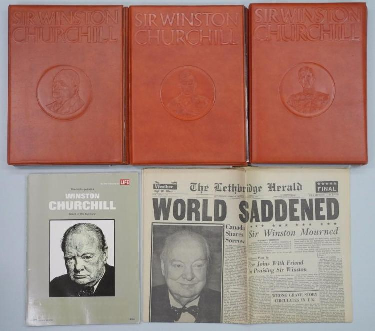 'Sir Winston Churchill' 'The Making of Man' Limited Proof Set Edition, Struck by Royal Mint - 24 Medallion Collection, 3 Folios of 8 each. Display. 24kt Gold Plated -All Paperwork Included