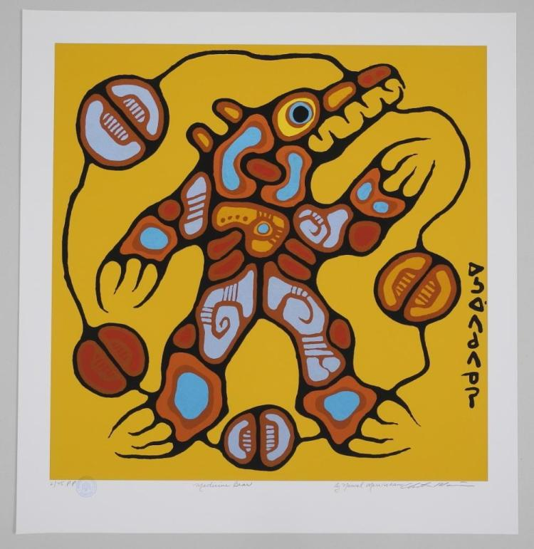 Norval Morrisseau (1931-2007) Giclee 'Medicine Bear' 24x24