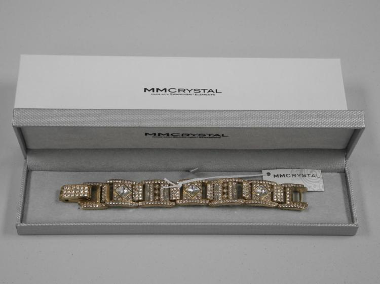 Ladies 'Atelier' MMCrystal Bracelet with 70 Round, Square and Baguette Clear Swarovski Elements = 57.00cts. SRRV: $1850.00