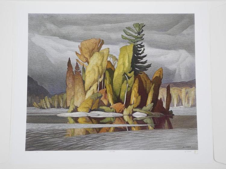 A.J. Casson (1898-1992) 'Little Island' 'Intelliquad Process' LE # 8/10 Worldwide. 26