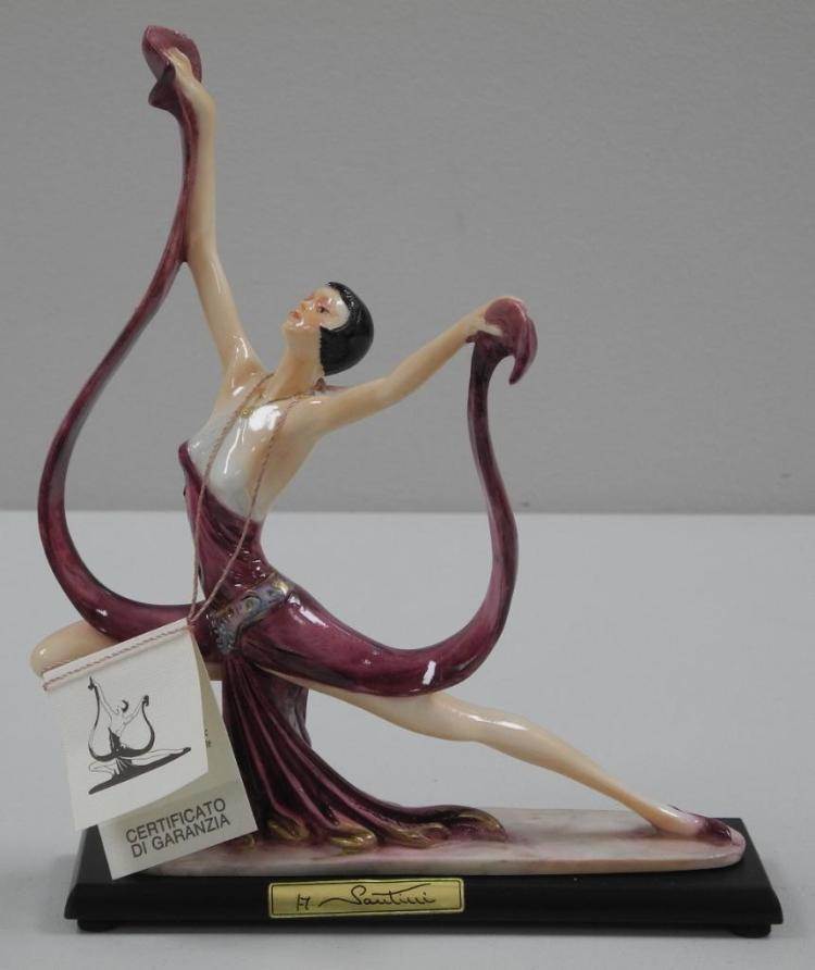 'Italy' A. Santinni Sculpture 'Lady Dancing' Estimate: $250-$300.00 with C.O.A. 9