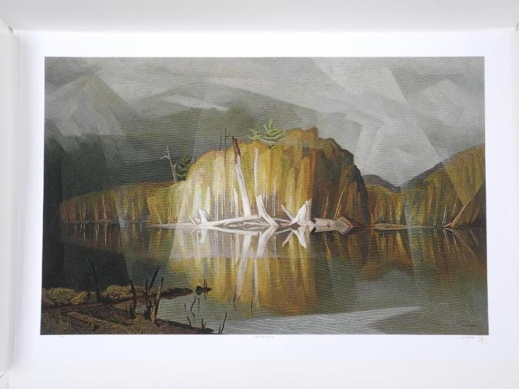 A.J. Casson (1898-1992) 'Mist, Rain and Sun' 'Intelliquad Process' LE # 8/10 Worldwide. 26