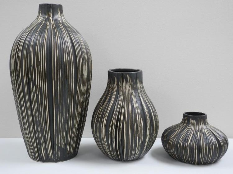 3pc Set 'MURACO' Vases. 5