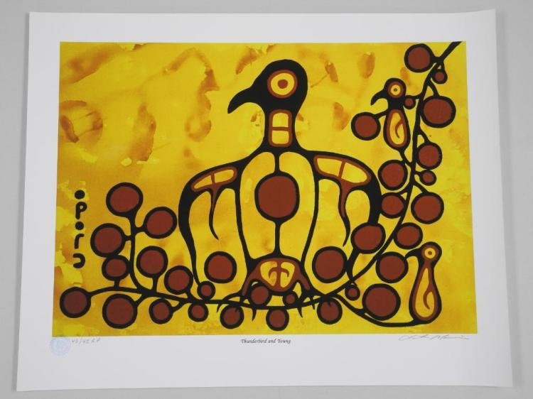 Christian Morrisseau (1969-) 'Thunderbird and Young' Artists Proof 43/45- Giclee 24