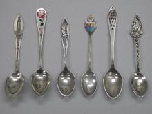 Lot of (6) Collector .925 Sterling Silver Spoons