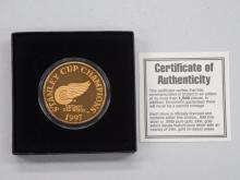 Stanley Cup Champions Commemorative Medallion - Limited Edition - DETROIT RED WINGS