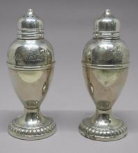 .925 Sterling Silver Salt and Pepper Shakers 90gm