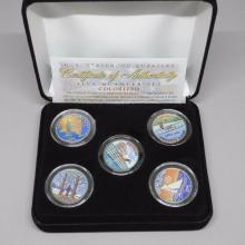 U.S. Statehood Quarters - Five Quarter Set Colorized Set -With Certificate