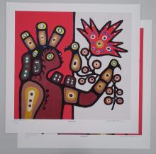 Lot of (2) Christian Morrisseau
